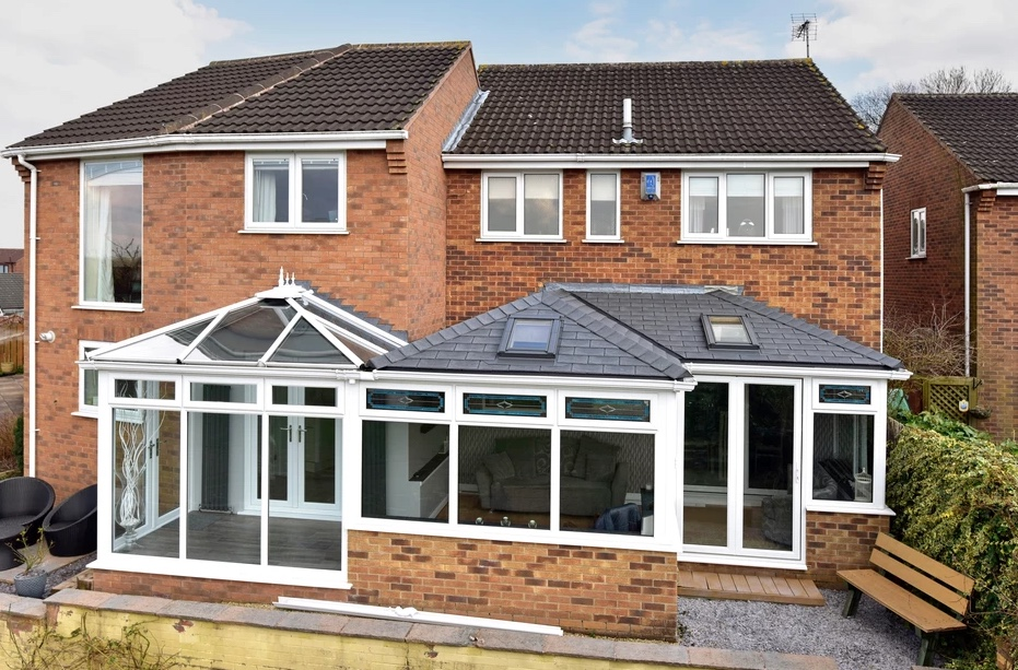 Gable end solid conservatory roof