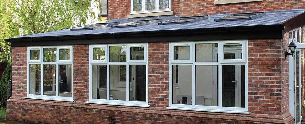 Lean-to equinox tiled roof design