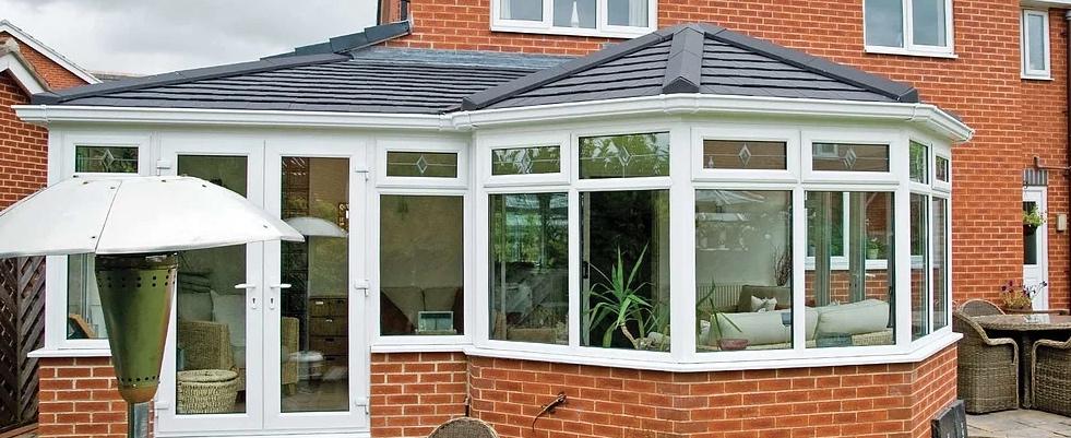 P-shape equinox conservatory roof style